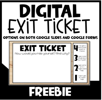 Digital Exit Tickets (Google Slides)
