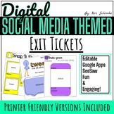 Digital Exit Slips - Social Media Themed