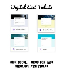 Digital Exit Tickets using Google Forms