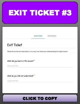 Digital Exit Tickets with Google Forms
