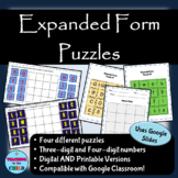 Digital Expanded Form Puzzles | Distance Learning