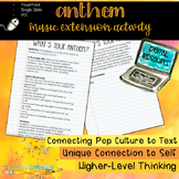 Digital Music Extension Activity: Ayn Rand's Anthem, What's Your Anthem?