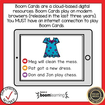 Boom Cards FLOSS Rule Read the Word