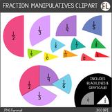 Digital FRACTION Circle Manipulatives (CLIPART)
