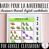 Digital FRENCH Dinosaur Math Worksheets for Google Classroom™ Distance Learning