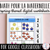 Digital FRENCH Spring Math Worksheets for Google Classroom™ (Distance Learning)