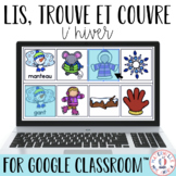 Digital FRENCH Winter Reading Game - Lis, trouve et couvre