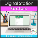 Digital Factors and Multiples Activities for Google Forms