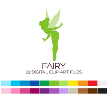 Digital Fairy Clipart - 22 digital fairies / 3x1.5 inches - A00018