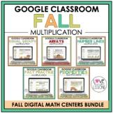 Digital Fall Math Centers Bundle / Multiplication / Third Grade