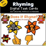 Digital Fall Rhyming Power Point Game with Audio