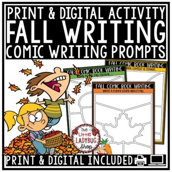 Digital Fall Writing Prompts 4th Grade Paperless for Google Classroom Activities