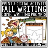 Digital Fall Writing Prompts 4th Grade Paperless for Googl