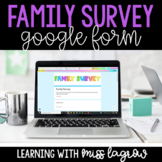 Digital Family or Parent Back to School Survey Form