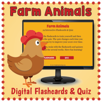 DIGITAL Farm Animals Flashcards and Quizzes