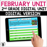 Digital February Literacy and Math Unit for Second Grade