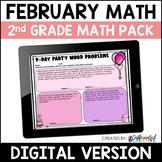 Digital February Math Activities Pack for 2nd Grade