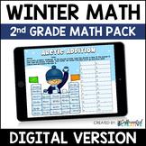 Digital Winter Math Activities Pack for 2nd Grade
