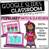 Digital February Math and Literacy Review