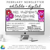 Digital February Newsletter - Editable with Google Slides