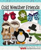 Digital Felt Art: Cold Weather Friends