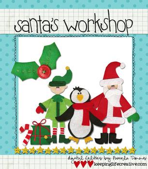 Digital Felt Art: Santa's Workshop