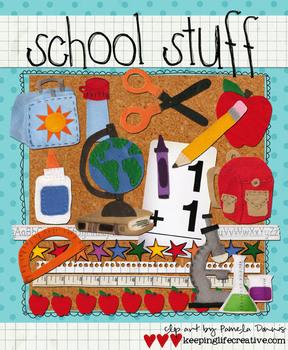 Digital Felt Art: School Stuff