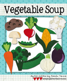 Digital Felt Art: Vegetable Soup
