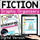 Fiction Digital Graphic Organizers, Reading Comprehension Distance Learning