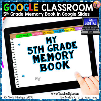 Digital Fifth Grade Memory Book