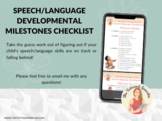 Speech/Language Developmental Milestones Checklist