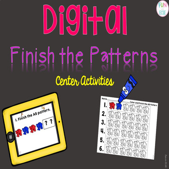 Digital Finish the Patterns Center Activities
