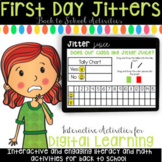 Digital First Day Jitters Back to School Activities for K, 1st, 2nd Grade