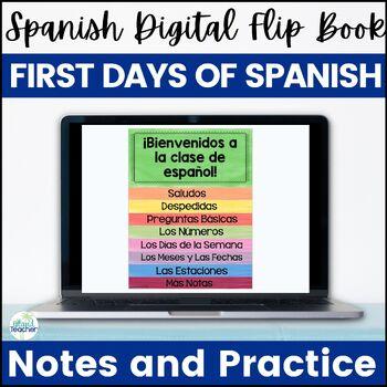 Digital First Days of Spanish Flip Book