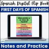 Spanish Basics Back to School Digital Flip Book for Google