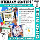 Digital First Grade Literacy Centers - Year Long Bundle -