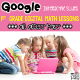 Digital First Grade Math Activity Bundle For Google Drive & Google Classroom