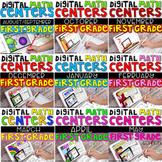 Digital First Grade Math Centers BUNDLE includes 117 CENTE