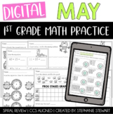 Digital First Grade Math Review (May) | Distance Learning