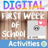 Digital First Week of School Activities for Upper Grades a