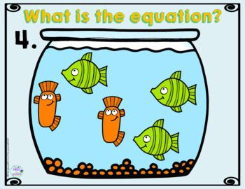 *Digital Math Centers* Addition Equation Activities:Fish Bowls