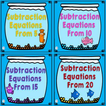Digital Math Centers* Subtraction Equation Activities: Fish Bowls