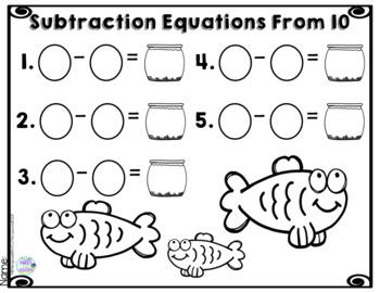 *Digital Math Centers* Subtraction Equation Activities: Fish Bowls