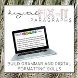 Digital Fix-It Paragraphs