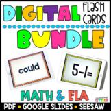 Digital Flash Cards ELA & MATH BUNDLE