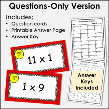 Digital Flash Cards - Multiply by 1