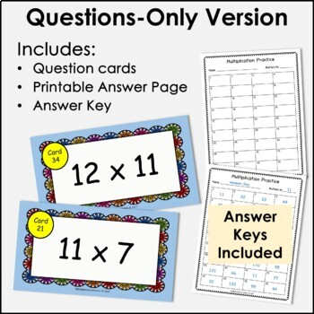 Digital Flash Cards - Multiply by 11