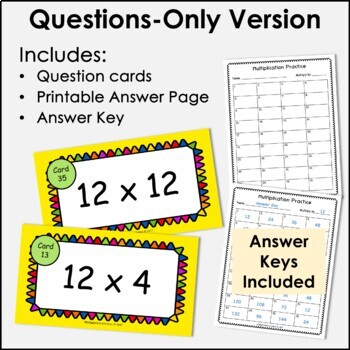 Digital Flash Cards - Multiply by 12