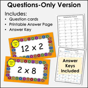 Digital Flash Cards - Multiply by 2