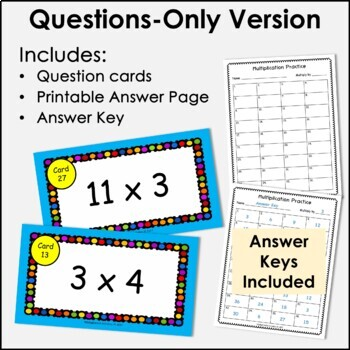 Digital Flash Cards - Multiply by 3